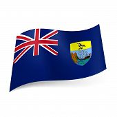 picture of ascension  - Flag of Overseas British territory  - JPG