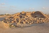 stock photo of burial  - Dilmun Burial Mounds in A - JPG