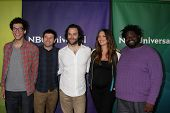 LAS VEGAS - APR 8:  Rick Glassman, Brent Morin, Chris D'Ella, Bianca Kajlich, Ron Funches at the NBC
