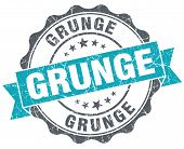 Grunge Turquoise Grunge Retro Vintage Isolated Seal