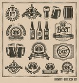 stock photo of bitters  - Beer icon set  - JPG