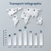 Transport Paper Infographics Elements