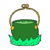 pic of witches cauldron  - cartoon witch - JPG