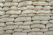stock photo of sandbag  - Background WW1 sandbags trench world war one - JPG
