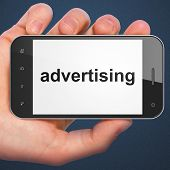 Advertising concept: Advertising on smartphone