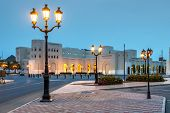 stock photo of oman  - Picture of a night scene in Muscat Oman - JPG