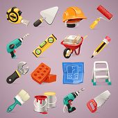 picture of wheelbarrow  - Construction Icons Set1 - JPG