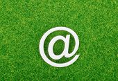 E-mail sign on grass