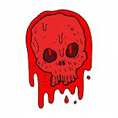 cartoon blood skull