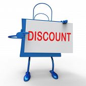 Discount Bag Shows Markdown Products And Bargains