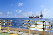 foto of barge  - Tender Drilling Oil Rig  - JPG