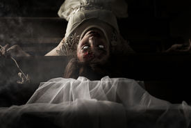 image of terrific  - The scary Bride ghost story in haunted house - JPG