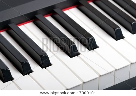 An Old Piano Keyboard. Hq Contrast Image