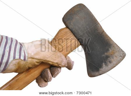 Worker Holding An Ax