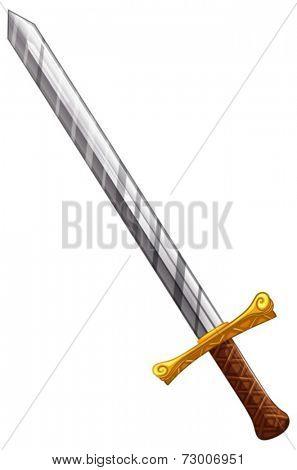 Illustration of a close up sword