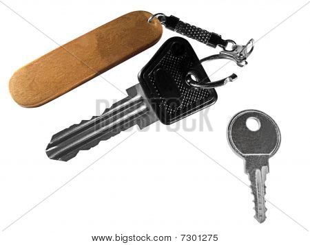 Two Keys With Open Keychain