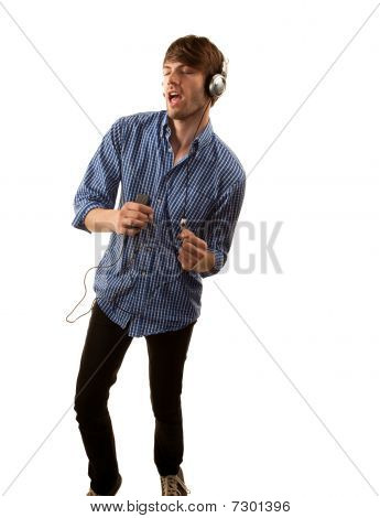 Tall Hipster With Headphones