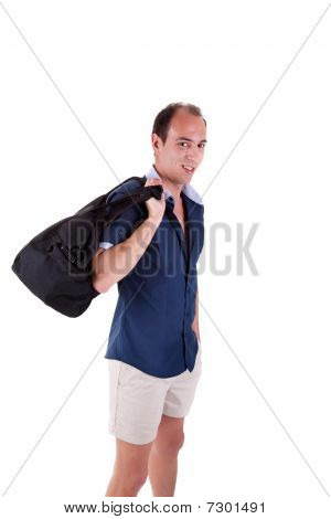 Man With A Sports Bag