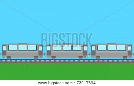 passenger train background vector