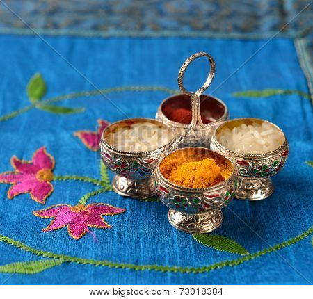 Natural color powers are used while worshiping God and an at auspicious occasions.