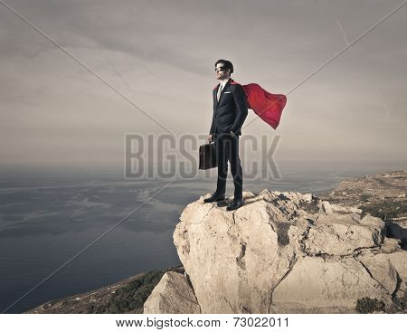 Superhero on the top