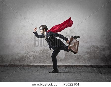A superhero at work