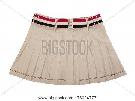 white miniskirt  isolated on white