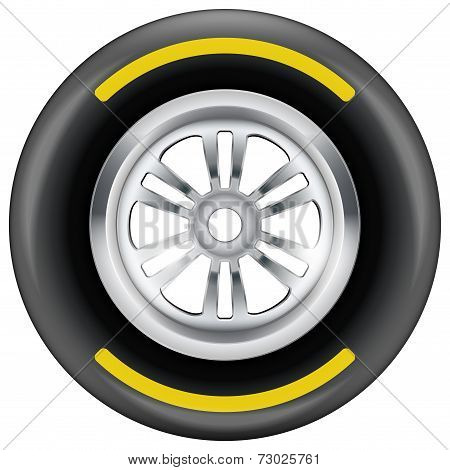 race wheel and tire symbol
