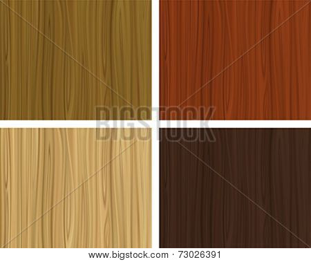 Texture of wood in various color tints. Editable vector illustration made with gradient mesh.