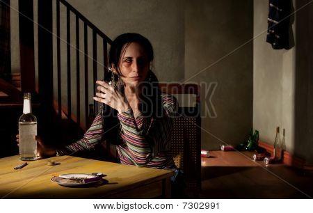 Alcoholic Woman