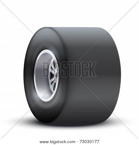 sports car wide wheel.