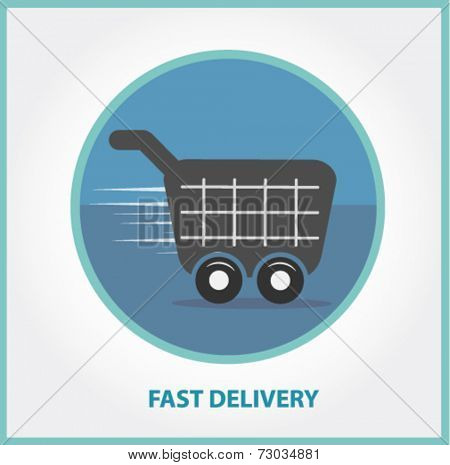 shopping cart - fast delivery concept
