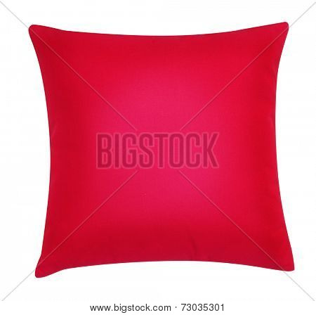 Red pillow.