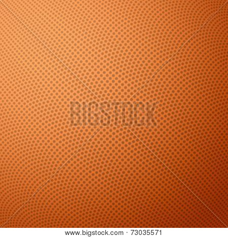 Basketball texture with bumps. Vector illustration.
