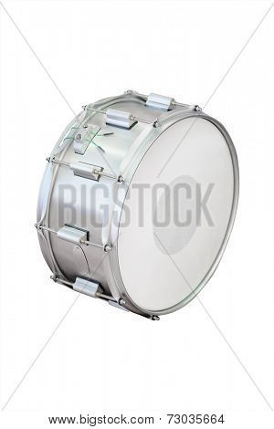 Drum against a white background