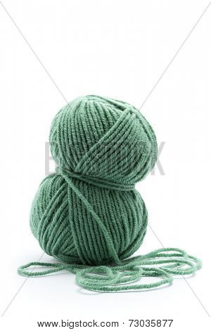 Skein of green yarn