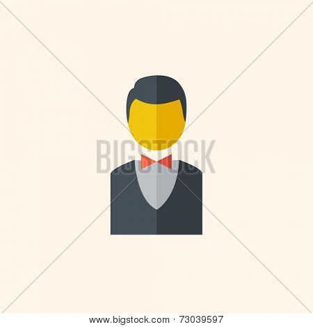 Bellboy. Travel Flat Icon