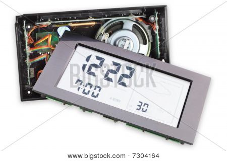 Cracked Isolated Digital Clock