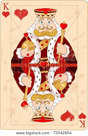 Illustration of king of hearts card