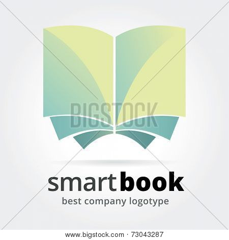 Abstract vector book concept isolated on white background