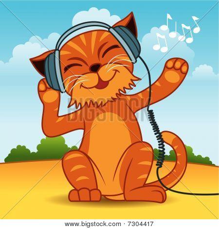 Headphone Cat