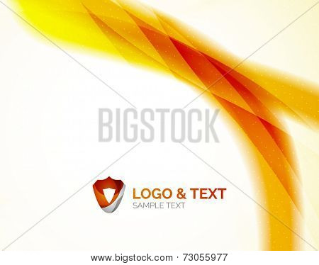 Sunny blur yellow wave design, modern abstract background