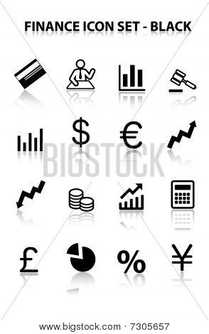 Reflect Finance Icon Set (Black)