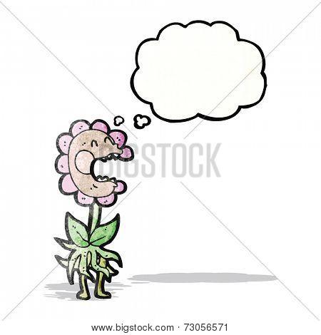 cartoon carnivorous flower