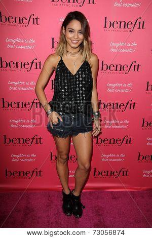 LOS ANGELES - SEP 26:  Vanessa Hudgens at the Benefit Cosmetics Kicks Off Wing Women Weekend at Space 15 Twenty on September 26, 2014 in Los Angeles, CA