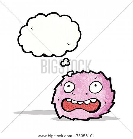 pink furry creature cartoon