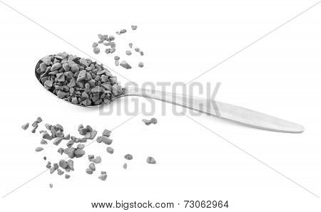 Teaspoon Of Instant Coffee, Some Granules Spilled