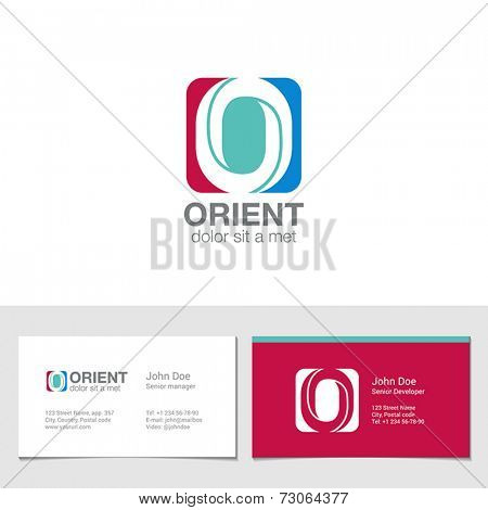 Corporate Logo O Letter company vector design template. Logotype with identity business visit card.
