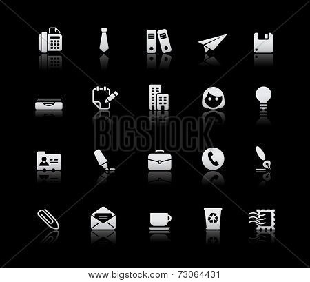 Office & Business Icons // Silver Series