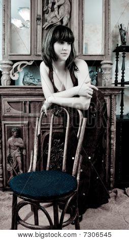 Woman In Vintage Flat